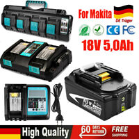 BL1850B 5Ah AKKU für Makita 18V /& 4 Fach Ladegerät DC18SF BL1860B BL1840 BL1815