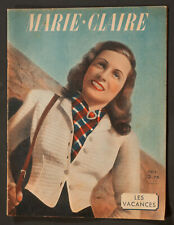 'MARIE-CLAIRE' FRENCH VINTAGE MAGAZINE HOLIDAY ISSUE 24 MAY 1941