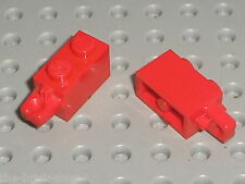 2 x LEGO red Hinge Brick ref 30541 / Set 9497 8157 7778 7753 7327 4101 7691 ...