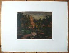 Paul Cezanne Lithographie sur velin d'Arches Mourlot Paysage d'Aix Vollard Levy