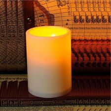 Indoor/Outdoor Battery Power Flameless Pillar Resin led Candle Light with Timer