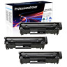 3PK Q2612A 12A Black Toner Cartridge Compatible For HP LaserJet 1010 M1319f MFP