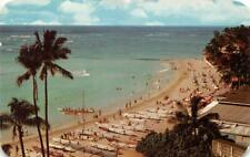 HONOLULU HI 1958 Panoramic View of Waikki Beach Pre-Statehood Era VINTAGE 545