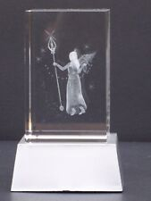 CRYSTAL ANGEL Laser Block & L.E.D. Display Stand@3D ANGELIC FAIRY@PAPER-WEIGHT