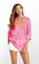 Lilly Pulitzer Sarasota Cotton Tunic Cosmo Pink Party Favors 630306082365 New