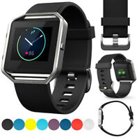 Sports Soft Silicone Watch Strap For Fitbit Blaze Band Accessories Large / Small