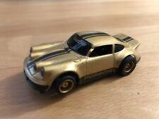 VINTAGE Tyco Porsche 911 Turbo HP7 Slot Car - Gold w/ lights