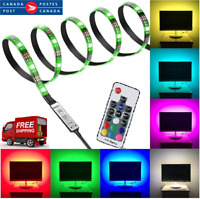 5050 3M RGB USB LED Strip Light with 5V USB Cable and Mini Controller for TV CA