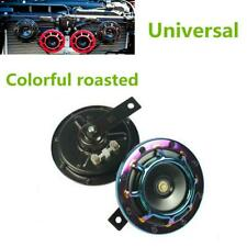 2 Pcs Universal Car Truck Colorful Super Loud Compact Electric Blast Tone Horn