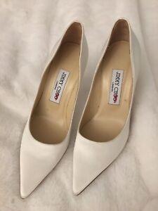 jimmy choo romy 100 Ivory Satin Pointy Toe Pumps Size 36 (6US) womens