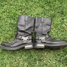 Harley Davidson Leather Harness Boots Silver Buckle Size 9