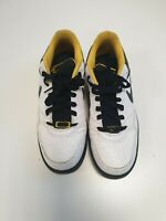 G25 MENS NIKE AIR BLACK WHITE YELLOW LACE UP TRAINERS UK 8 EU 42.5 US 9