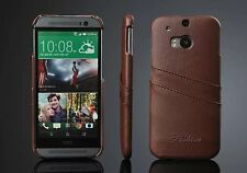 LEATHER CASE WITH TWO CARD SLOT FOR HTC ONE M8