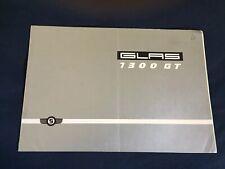 1960s Glas 1300GT Color Brochure Catalog Prospekt