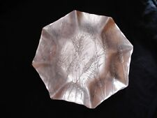 "Wendell August Handmade Aluminum Plate by Dawn, 9.5"" Wheat Design"