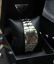 GUESS *NEW* MEN'S STAINLESS STEEL WRISTWATCH WITH GENUINE DIAMONDS