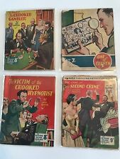 Job Lot of 1950s Sexton Blake Crime Novels/Comics Nos.256, 269, 202, 314