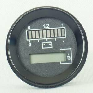 New For CURTIS Round Battery Meter & Hour Meter replace fit for Curtis 803