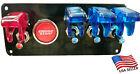 12v Switch Panel Black Powder Coat 3 Blue Switch1 Red Switchpush Start Button