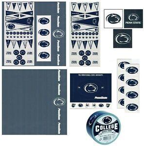 Penn State University NCAA Scrapbook Kit Paper Stickers Patch Duck Tape U-CHOOSE