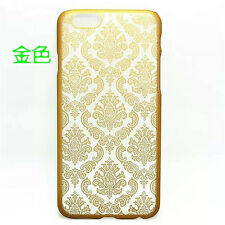 Hard Back Damask Slim Case Cover for iPhone 6 6+ 5 5C & Samsung Galaxy S4 S5 S6