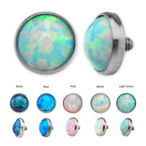Dermal Anchor Tops with Synthetic Opal