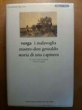 LIBRO - VERGA I MALAVOGLIA MASTRO-DON GESUALDO STORIA DI UNA CAPINERA NEWTON