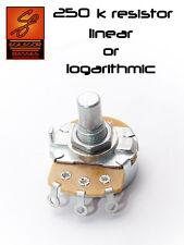 alpha 250k potentiometer resistor for guitar or bass choose LINEAR or LOG