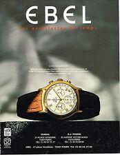 PUBLICITE ADVERTISING  1994   EBEL  montre CHRONOGRAPHE