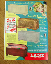 1950 Lane Cedar Hope Chests Ad  For Sweetheart Sister Mother or Daughter