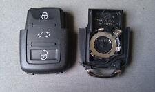 1x Para Volkswagen, Skoda, 3 botón remoto Flip Llavero caso Cr2032 (109)