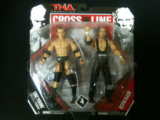 Official TNA Wrestling Cross The Line 4 Nash & Eric Young Figures *Signed By EY*