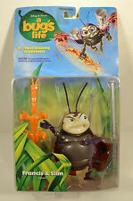"6"" Slim & 4"" Francis 1998 Mattel Deluxe Action Figure Set Disney A Bug's Life"
