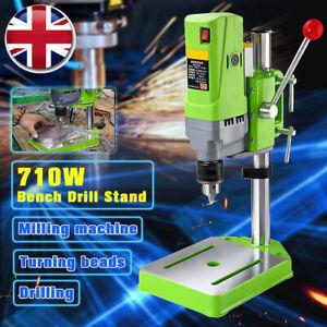 5 Speed Pillar Drill 710W Press Bench Top Mounted Drilling Machine Stand UK