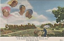 """Diorama of Stephen Foster's Song """"Old Black Joe"""" 1860 in White Springs, Florida"""