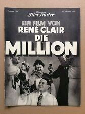 Million (BFK 1590, 1931) - René Clair