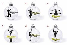 Cheerleading high school college competition christmas tree ornament glass dance