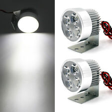 2x 12W 4 LED Super Bright Work Daylight Spot Light Headlight For Motorcycle Car