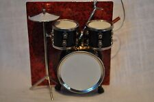 BLACK DRUM ET ORNAMENT MINIATURE DRUMSET MUSICAN GIFT