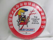 Vintage 1986 Spuds Mackenzie Bud Light Beer Thermometer Bud Sign Advertising