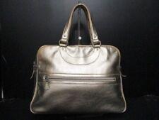 Auth JACQUES LE CORRE Gold Leather Handbag