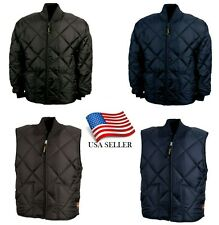 Game Sportswear Firefighter Black Navy Quilted Classic Jacket 1221-J Coat Vest