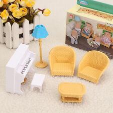 1:12 Doll House Miniature Furniture White Piano Sofa Model Set Decor Kids Toy