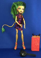 Monster High Doll Jinafire Long Scaris City of Frights w/Suitcase Loose Mattel