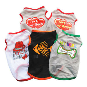Summer Dog Clothes for Small Dogs Printed Dog Vest Breathable Chihuahua Shirts