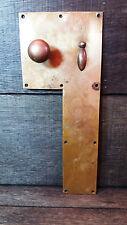 Salvata ALBERGO-periodo OLD BRASS DOOR FINGER / BACK PLATE PUSH & Manopola / MANIGLIA