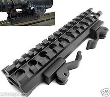 Double Rail 13 Slot&Angle Mount Quick Detach&Picatinny Weaver Rail Scope Mount &