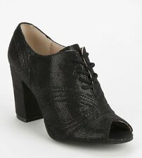 2982605dbc NEW Seychelles Eternity Black Suede Open Toe Heels Bootie Size 8.5