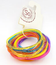 New 20 Piece Bright Colors & Glitter Jelly Bracelet Set from Kohls NWT #B2013