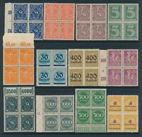 Lot Stamp Germany Imperial Block Reich Dienst Inflation Official MNG